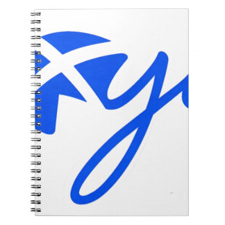 Yes - Flag of Scotland, Bratach na h-Alba Spiral Notebook