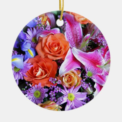 yes flower christmas tree ornaments