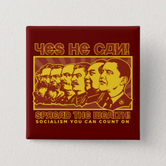Yes He Can! Comrade Obama Spoof Button