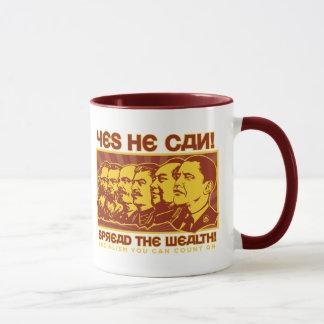 Yes He Can! Comrade Obama Spoof Mug