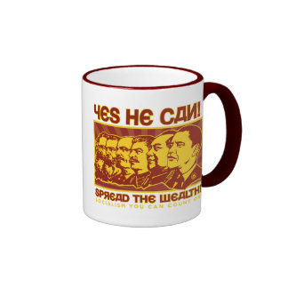 Yes He Can! Comrade Obama Spoof Ringer Mug