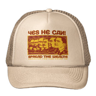 Yes He Can! Comrade Obama Spoof Trucker Hat
