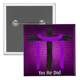 Yes He Did! 2 Inch Square Button