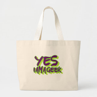 Yes I am a Geek Canvas Bag