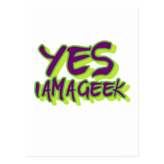 Yes I am a Geek Postcard