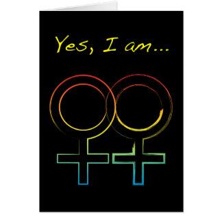 yes, i am a lesbian card