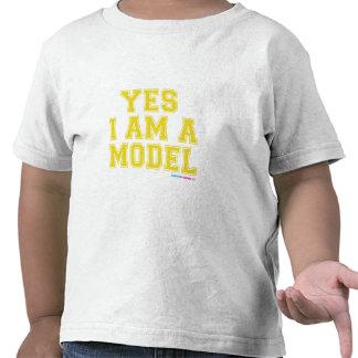 Yes I Am A Model Tee Shirt
