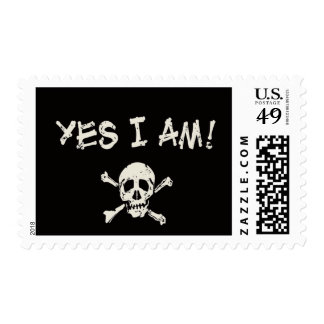Yes I Am A Pirate Postage Stamp