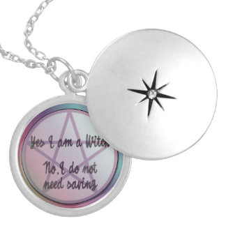 Yes I am a witch. No I don't need saving! Silver Plated Necklace