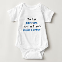 Yes I am Bilingual Funny Baby Bodysuit
