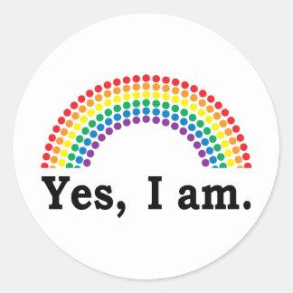 Yes I Am Classic Round Sticker