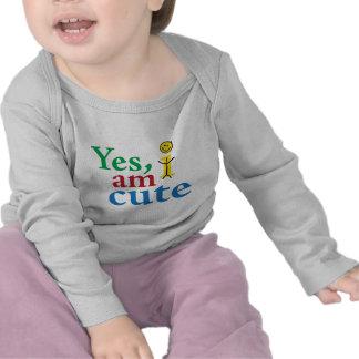 Yes I Am Cute Infant Long Sleeve Shirt