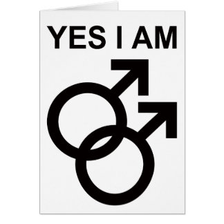 yes i am gay greeting cards