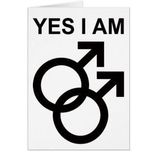 yes, i am gay card