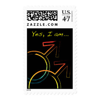 yes, i am gay postage stamp
