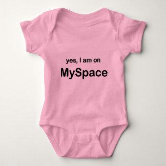 Yes I Am On Myspace Baby Bodysuit
