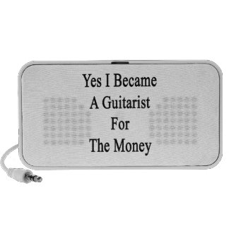 Yes I Became A Guitarist For The Money Mini Speaker