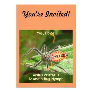 Yes I Bite Assassin Bug 5x7 Paper Invitation Card