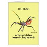 Yes I Bite Assassin Bug Stationery Note Card