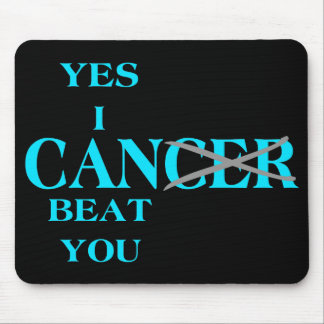 Yes I Can Beat Cancer Blue Mouse Pad