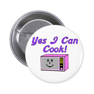 Yes I Can Cook Pinback Buttons