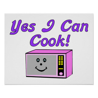 Yes I Can Cook Microwave Poster