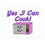 Yes I Can Cook Postcard