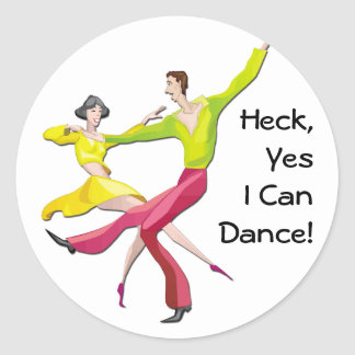 Yes I Can Dance Round Sticker