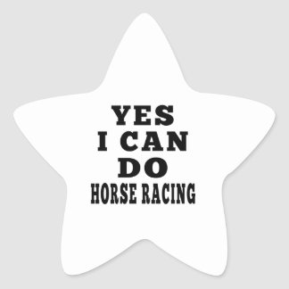 Yes I Can Do Horse Racing Star Sticker