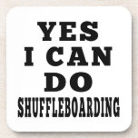 Yes I Can Do SHUFFLEBOARDING Drink Coaster