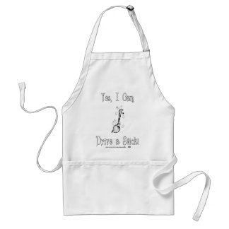 Yes, I Can Drive a Stick! Adult Apron