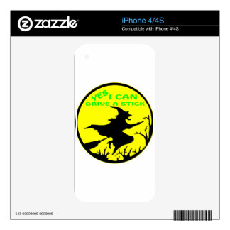 Yes I Can Drive A Stick, Witch iPhone 4 Decal