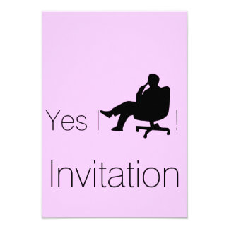 Yes I Can Invitation