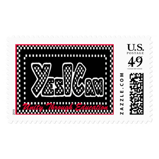 Yes I Can Logo, Unity Through Education Postage Stamp