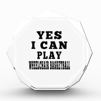 Yes I Can Play Wheelchair Basketball Award
