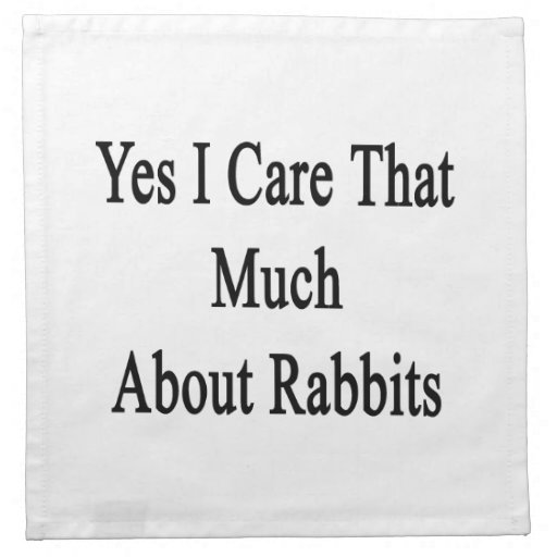 Yes I Care That Much About Rabbits Cloth Napkin