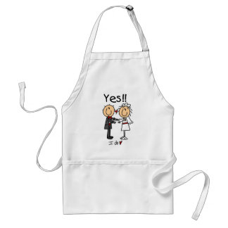 YES I Do Bride and Groom T-shirts and Gifts Adult Apron