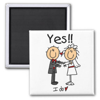 YES I Do Bride and Groom T-shirts and Gifts Magnet