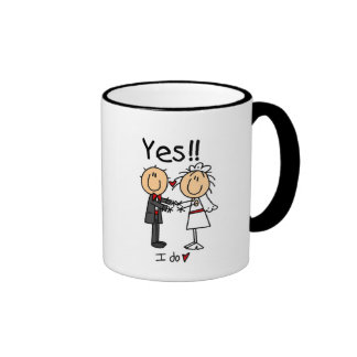 YES I Do Bride and Groom T-shirts and Gifts Ringer Mug