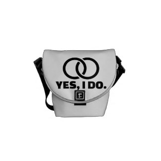 Yes I do wedding rings Messenger Bag
