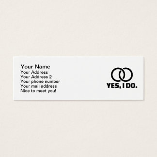 Yes I do wedding rings Mini Business Card