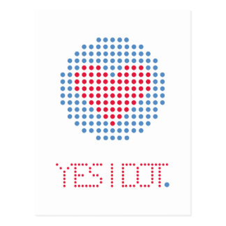 YES I DOT GIFTS POSTCARD