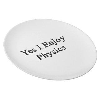 Yes I Enjoy Physics Plates