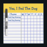"""Yes I Fed The Dog Kids Weekly Chores Check List SM Dry-Erase Board<br><div class=""""desc"""">Yes I Fed The Dog Kids Weekly Chores Check List. Keep, Add, delete or change any wording to suit your needs. Now at a glance, mom will know if the kids have fed the dog (or cat or animals). It&#39;s also a good reminder for the children. The kids just need...</div>"""