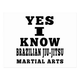 Yes I Know Brazilian Jiu-Jitsu Postcards