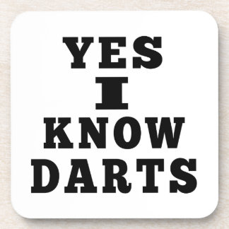 Yes I Know Darts Drink Coaster