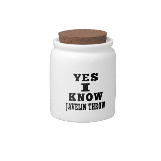 Yes I Know Javelin throw Candy Jar