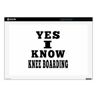 Yes I Know Knee Boarding Decals For Laptops
