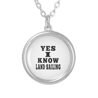 Yes I Know Land Sailing Personalized Necklace