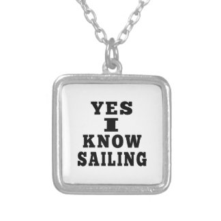 Yes I Know Sailing Necklace